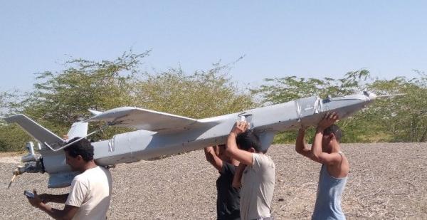القوات المشتركة تسقط طائرة حوثية مسيرة في المخا