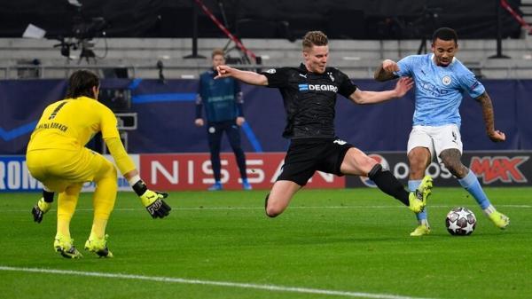 مانشستر سيتي يضع قدما في ربع نهائي دوري الأبطال