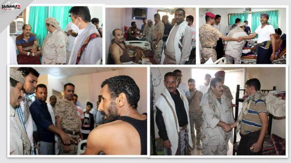 جرحى المقاومة الوطنية في مشافي عدن يثمنون اهتمام القائد طارق